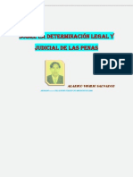 Como Ha de Determinarse La Pena Legal y Judicial