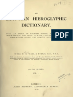 Egyptian Hieroglyphic Dictionary Vol 1