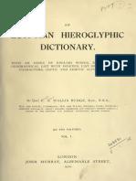 Egyptian Hieroglyphic Dictionary Vol 1