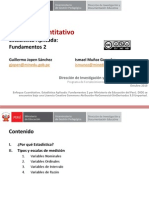 Enfoque Cuantitativo, Estadìstica Aplicada 2