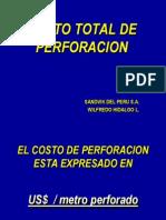 COSTO METRO Perforacion
