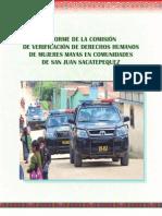 Informe de Comisión de Verificación de Derechos Humanos de Mujeres Mayas en Comunidades de San Juan Sacatepéquez