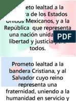 Votos del procesional de las banderas en la EBV