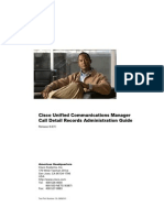 Cisco Unified Communications Manager Call Detail Records Administration Guide, Release 8.6