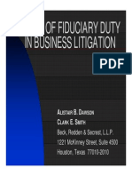 5 Breach of Fiduciary Duty in Business Litigation