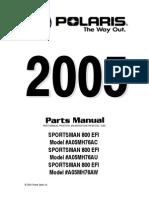 2005 Sportsman 800 Efi - A05mh76ac,Au,Aw - Pm