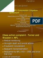 NFL Concussion Settlement - discussion slides