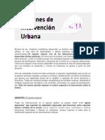 Patrones de Intervencion Urbana