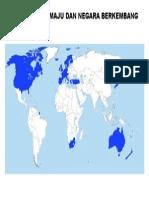 Peta Negara Maju Dan Negara Berkembang