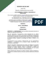 Decreto 838 de 2005relleno Sanitrio