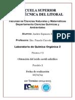 P2 Obtencion Ac. Acetilsalicílico AE