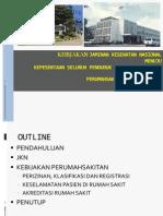 Paparan Kebijakan Perumahsakitan Akreditasi RS Di Indonesia Dan Jkn Dir BUKR