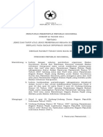 Peraturan Pemerintah Nomer 64 Tahun 2014 tentang Jenis dan Tarif atas Jenis Penerimaan Negara Bukan Pajak yang Berlaku pada Badan Informasi Geospasial