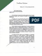 La carta con la que Cuauhtémoc Cárdenas renunció al PRD