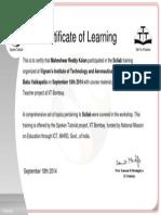 Scilab Participant Certificate Sample