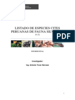 CITES Peruano