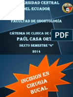 Incision en Cirugia Oral PCO