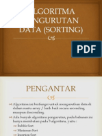 Algoritma Pengurutan Data (Sorting)