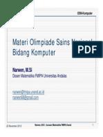 2013-11-08 Materi Olimpiade Sains Nasional