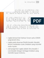 PENGANTAR LOGIKA & ALGORITMA