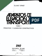 Hellmut Ernst. Tomo1. Aparatos de Elevacion y Transporte.
