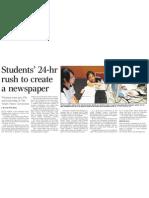 Students' 24-hr rush to create a newspaper, 19 Nov 2009, Straits Times