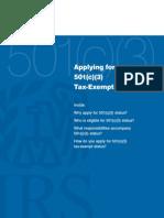 IRS 501c(3) Booklet