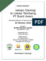 Kursus Singkat Pemetaan Geologi