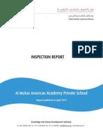 2013 KHDA Report - American Academy in Al Mizhar