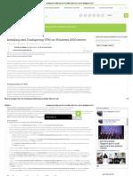 Installing and Configuring VPN on Windows 2003 Server _ Server Management 24x7 !