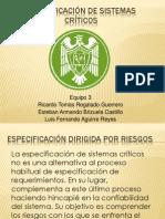 Especificación de Sistemas Críticos Presentacion