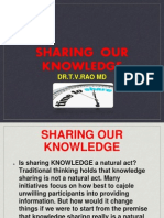 Sharing Our  Knowledge