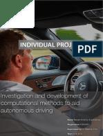 Autonomous Driving Research Proposal