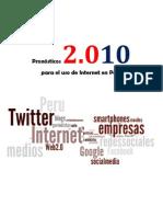 Pronósticos 2010 para el uso de Internet en Perú