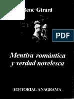 Mentira Romantica Y Verdad Novelesca