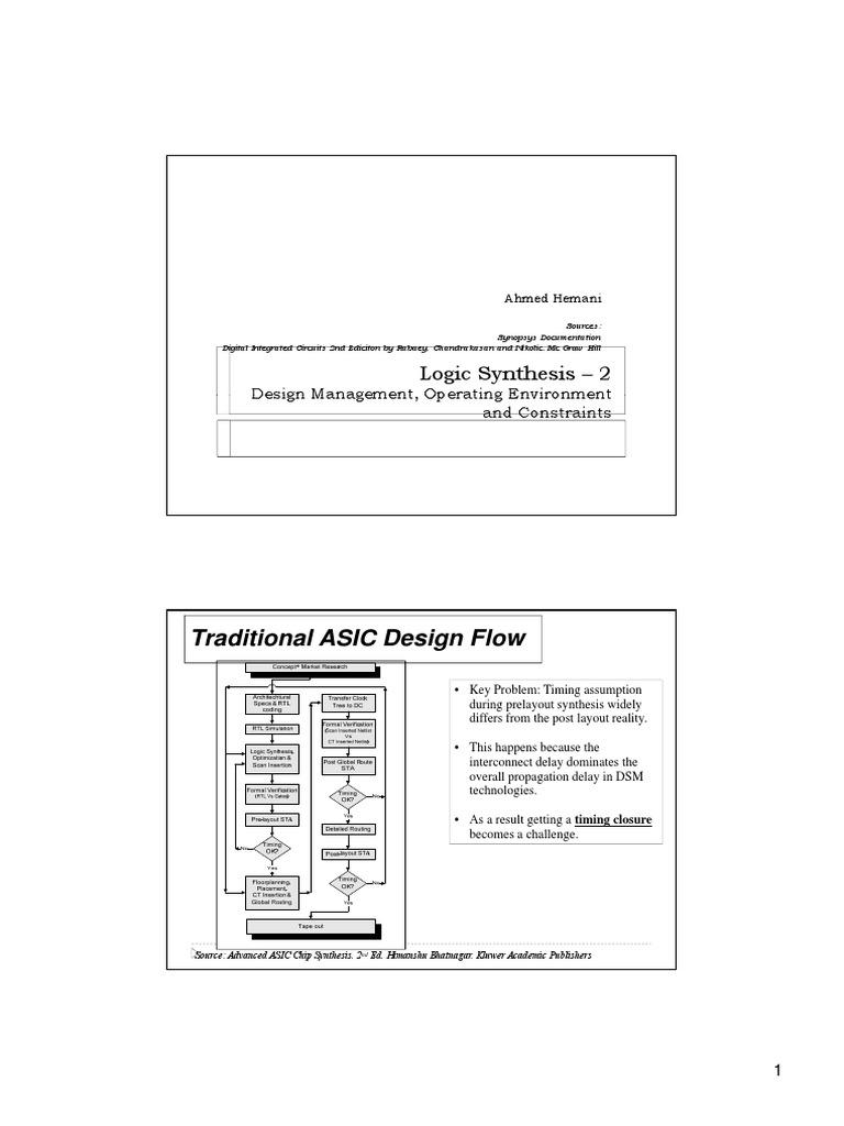 logic synthesis using synopsys pdf