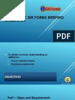 eBIR Forms