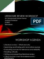 1-Literature Review Workshop
