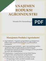 manajemen produksi agroindustri