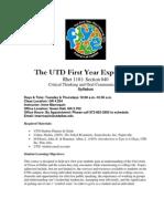 UT Dallas Syllabus for rhet1101.040.07f taught by Irene Marroquin (ixm033000)
