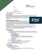 UT Dallas Syllabus for arts3372.501.07f taught by Scott Hilton (smh069000)