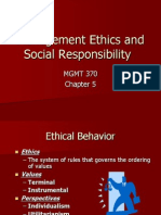 MANAGEMENT ETHICS AND SOCIAL RESPONSIBILITY