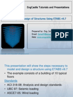MODELING AND DESIGNING STRUCTURE USING ETABS 9.7.ppt
