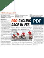 OCBC Cycle Singapore 2009, 19 Nov 2009, Straits Times