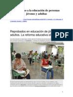 El Derecho a La Educación de Personas Jóvenes y Adultas