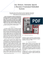 Automatic Speech Recognition for Resource-Constrained Embedded Systems
