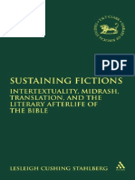 TRANSLATION STUDIES Sustaining Fictions Intertextuality Midrash Translation and the Literary Afterlife of the Bible Library of Hebrew Bible Old Testament Studies