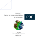 Python for Computational Science and Engineering