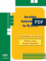 Acción tutorial en 1º de ESO primer trimestre