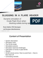 Slugging in a Flare Header